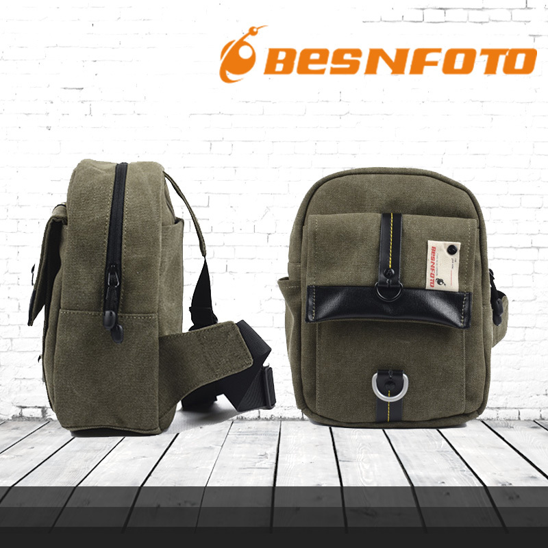Besn Army Green Canvas Camera Video Bag Waterproof Gopro Backpack Large Capacity Photography Bag for Pad DSLR Small SlR(China (Mainland))