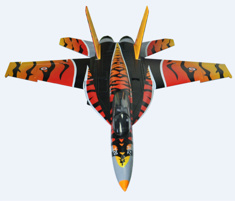 AF Model 64MM EDF F-18 Tiger PNP China manufactory offer EPO material RC model(China (Mainland))
