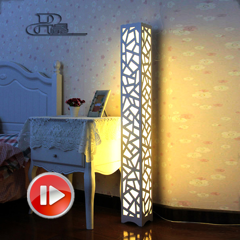 Natural vertical bamboo flooring promotion achetez des for Lampe sur pied moderne