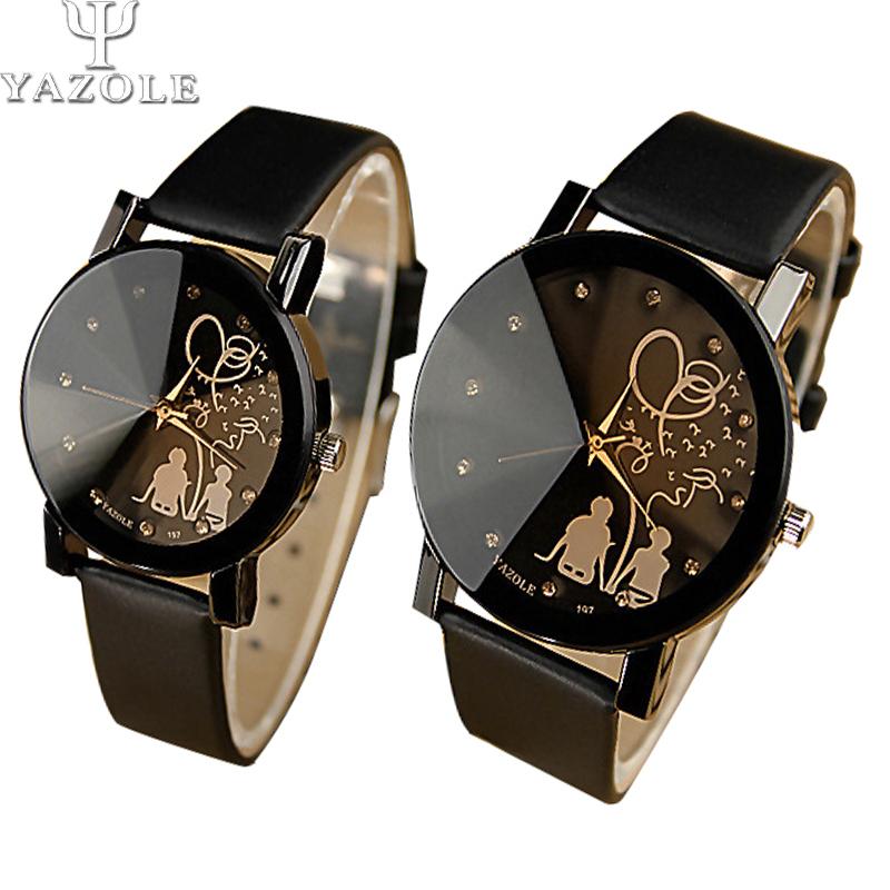 YAZOLE Brand Lovers Watch Women Men Watches Female Clock Quartz Wrist Watch Ladies Quartz watch Montre