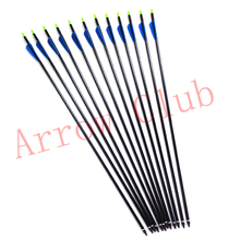 24pcs hunting 7.6mm OD and 30inch length aluminum compound bow arrow matches 24pcs 125GR gold color arrow broadhead