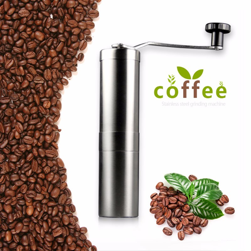 Manual Conical Burr Mill for Precision Brewing Brushed Stainless Steel Coffee Grinder Coffee Hand Grinde