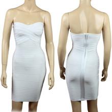 2015 New Women's Strapless Bandage Bodycon Dress Many Colors wholesale 036# XS S M L(China (Mainland))