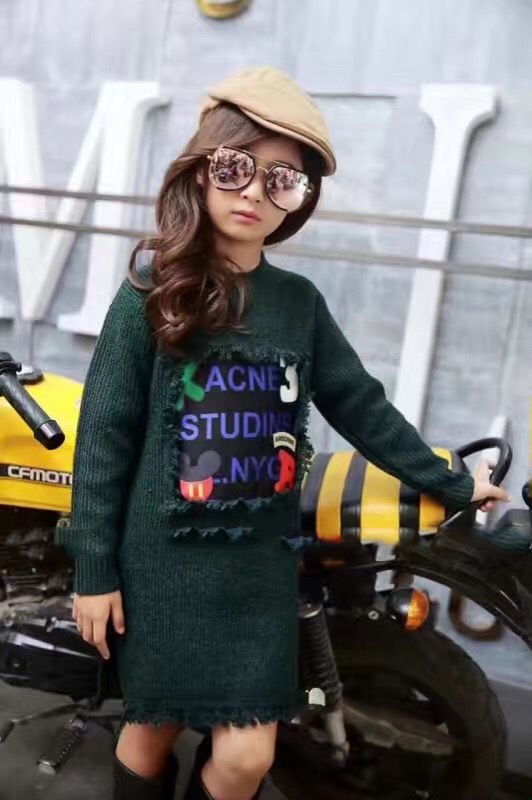 Скидки на 2016 детей цю дон снаряжение новых девушки вязать свитер девушка длинными кистями дизайн свитер бесплатная доставка