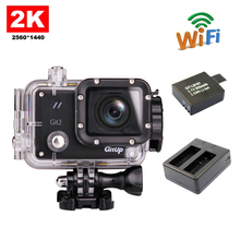 Free Shipping!!GitUP Git2 Wifi Sports Action Camera 2k Full HD For Sony IMX206 16MP Sensor +Extra 1pcs battery+ Battery Charger