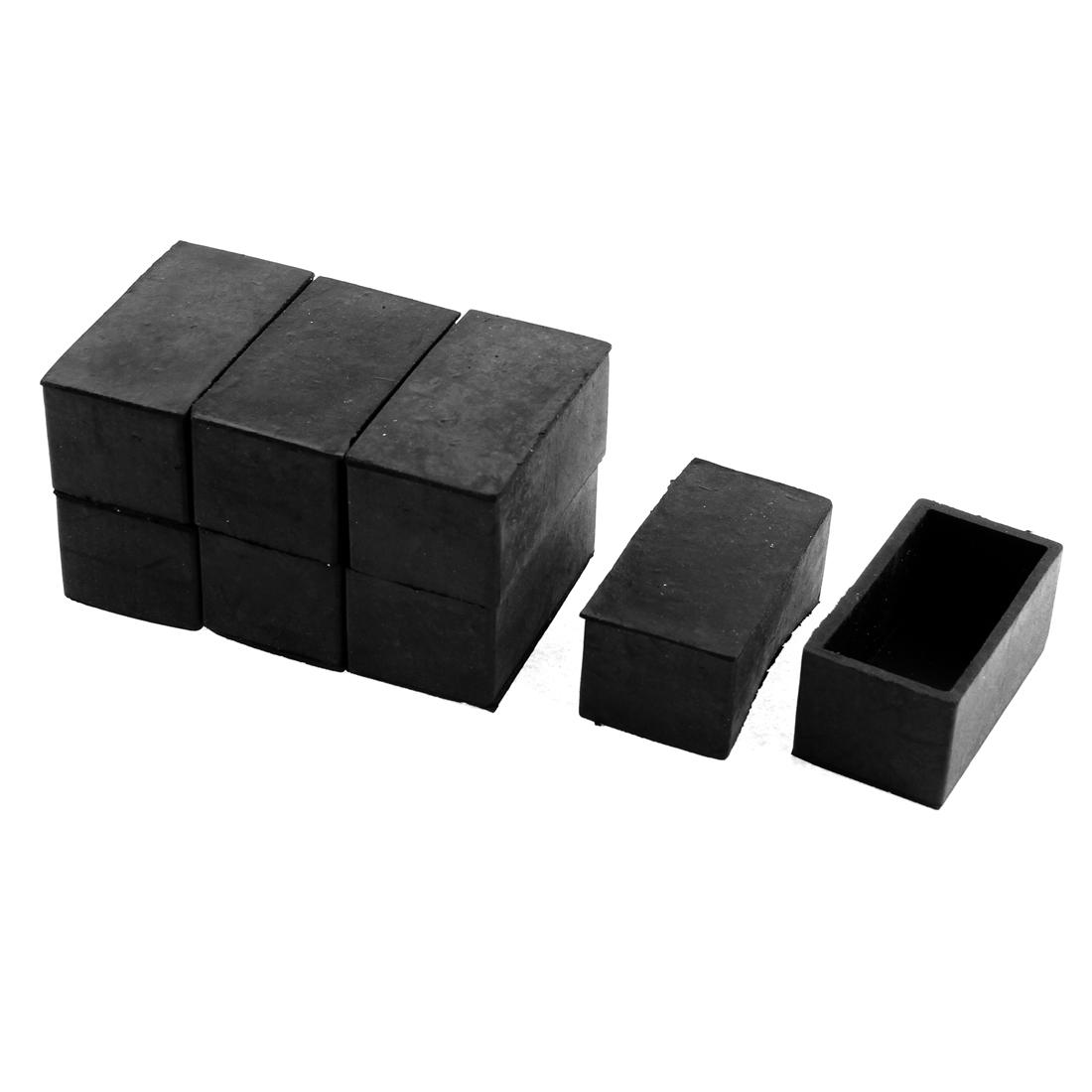 50mmx25mm Furniture Chair Leg Feet Floor Rubber Protectors Ferrules Black 8pcs<br><br>Aliexpress