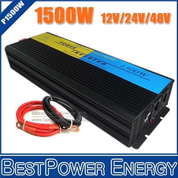HOT SALE!! 1500 Watt Pure Sine Wave Power Inverter,1500W Wind Solar Inverters,DC12V/24V/48V to AC110V/220V Off Grid Inverter
