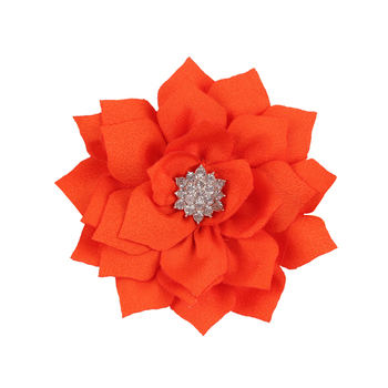 1 Pieces Lotus Baby Girls Hair Clip Satin Diamonds Toddler baby bobby pins Infant Hair clips Baby Hair Flower Accessories W132