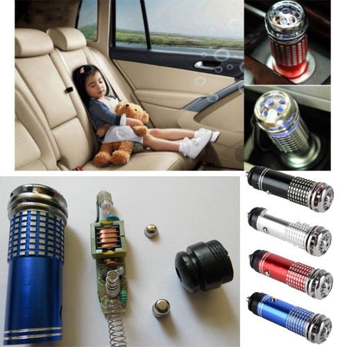 12V Mini Auto Car Fresh Air Ionic Purifier Oxygen Bar Ozone Ionizer Cleaner(China (Mainland))
