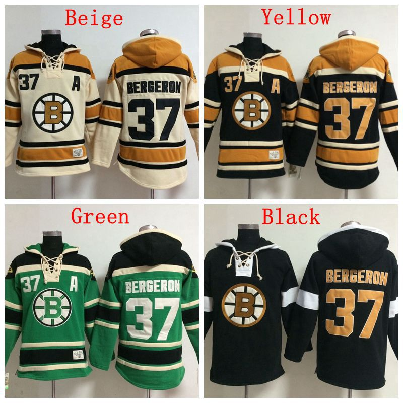 New Wholesale&Retail Mens Boston Bruins Hoodie Jerseys #37 Patrice Bergeron Ice Hockey Hoodie,Accept Mixed Orders,Embroidery Log