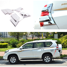 Buy Toyota Land Cruiser Prado FJ 150 2014 2015 Chrome Car Rear Tail Light Lamp Cover Shade Frame Protector Accessories for $72.89 in AliExpress store