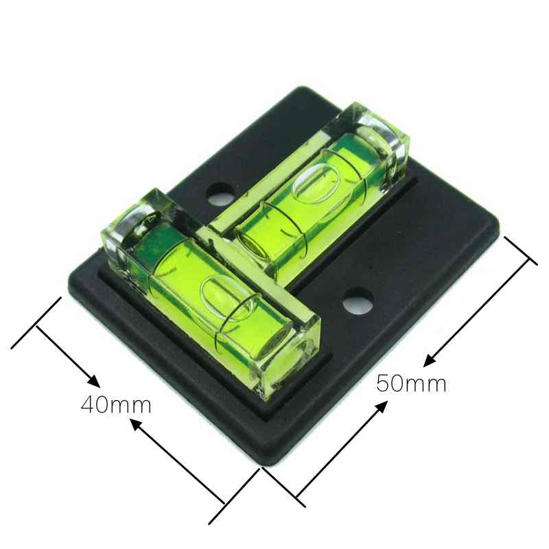 HACCURY Two ways Mini Spirit Level measurement instrument T-type spirit level bubble four styles