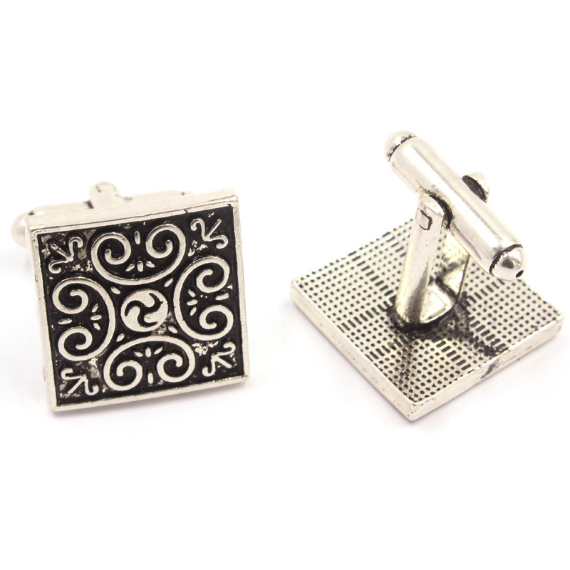 Retro Square Totem Cufflink Men's Wedding Party Groom Gift Suit Shirt Cuff Links(China (Mainland))