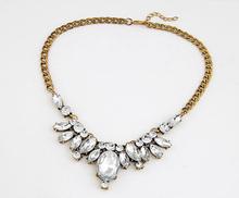 Buy New Design hot sale Fashion Charm Crystal bib choker Necklace Rhinestone Gem Flower Chain Necklace Jewelry Women XY-N211 for $1.88 in AliExpress store