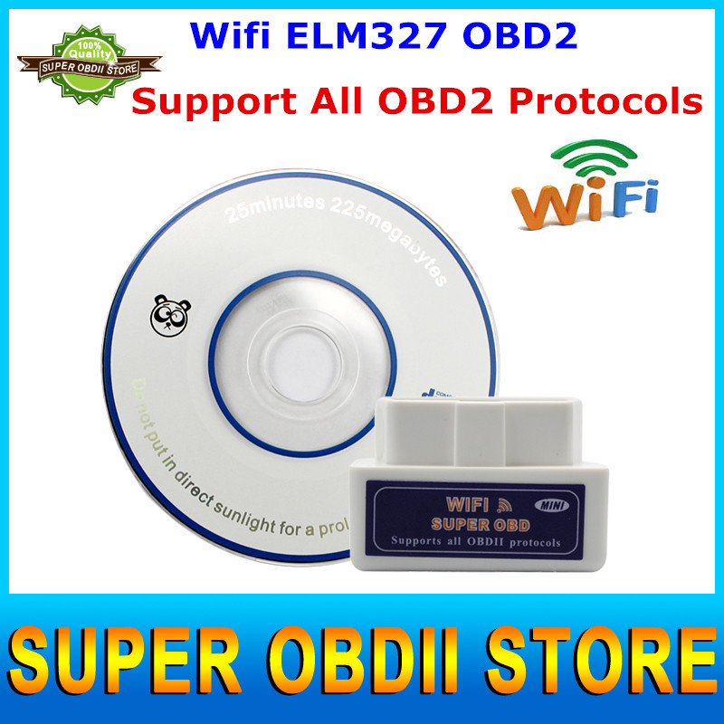 Newest Arrival Wifi ELM327 OBD2 ELM 327 Wireless ODB2 II Car Diagnostic Scanner Tool for IOS Android PC(China (Mainland))