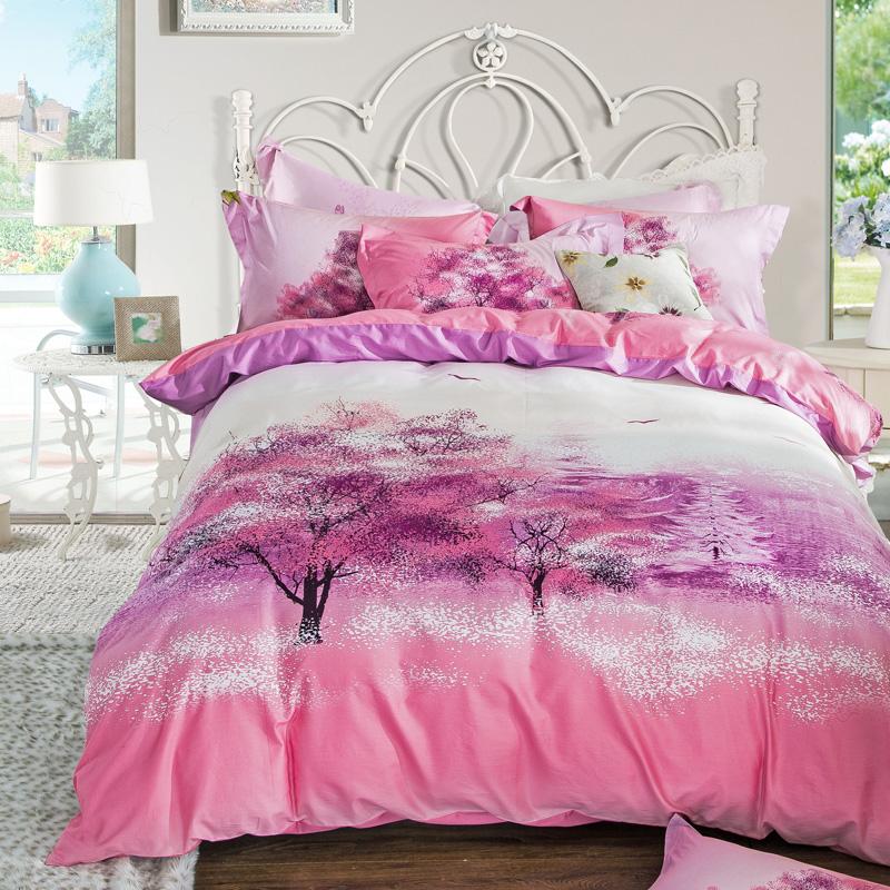 Popular sakura comforter set buy cheap sakura comforter - Pink and purple comforter set ...