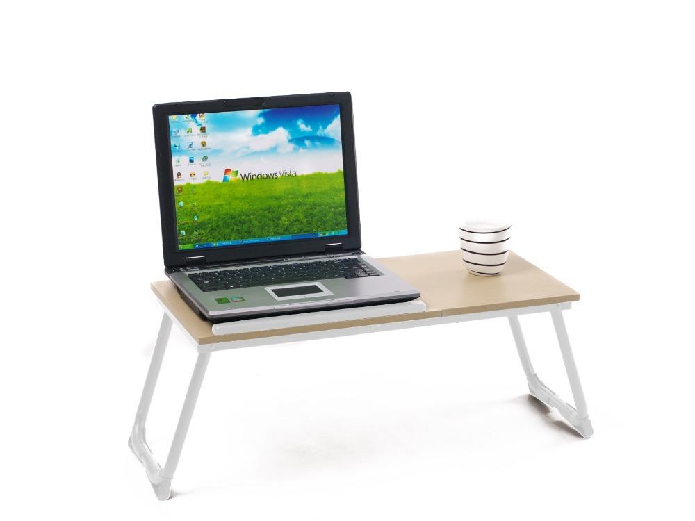 White Portable Laptop Desk Folding Laptop Table Stand