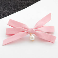 Buy 2017 New Bowknot Pearls Hair Clips Girls Ladys Headwear Cute Fabric Design Hair Accessories Women Hairpins Barrette Hot Sale for $1.75 in AliExpress store
