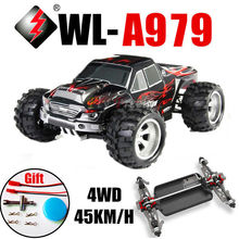 RC car  Wltoys A979 4WD 2.4G 4x4 Remote Control High Speed Automobile Race 1:18 Scale off-road Vehicles Cars Toy  Free Shipping(China (Mainland))