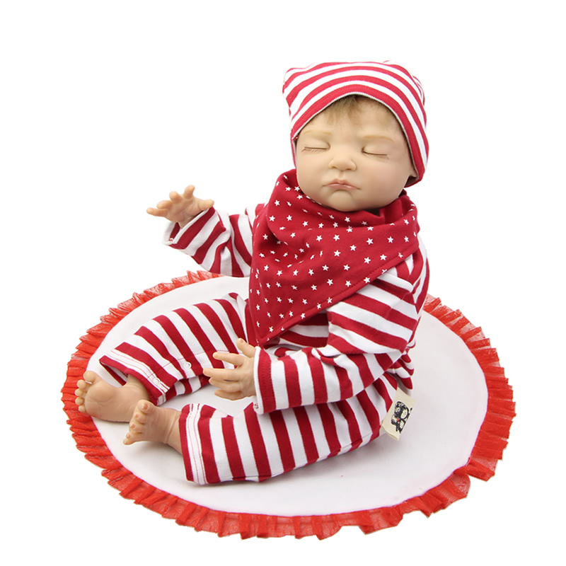 22 Inch Reborn Baby Dolls Collectible Toy Realistic Newborn Babies Dolls for Toddlers Birthday Christmas Gift(China (Mainland))