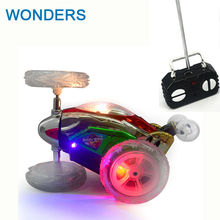 Buy Funny Mini RC Car Remote Control Toy Stunt Car Monster Truck Radio Electric Dancing Drift Model Rotating Wheel Vehicle Motor for $11.96 in AliExpress store