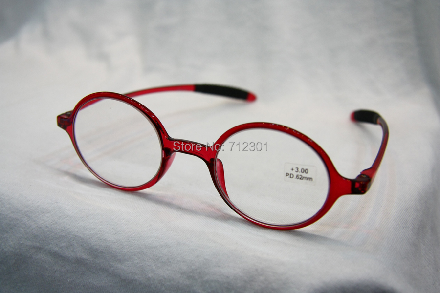 Flexible TR90 Retro Reading Glasses, Women Men Round Frame ...