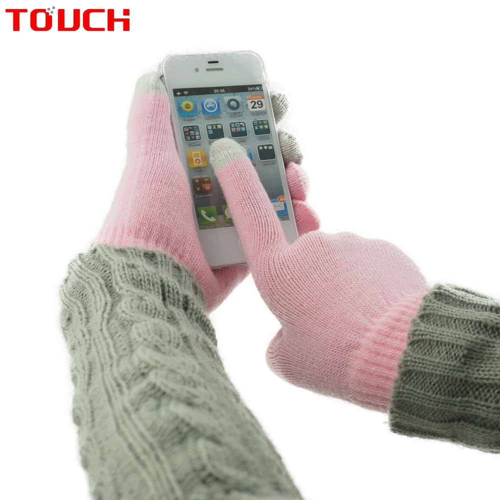 Touch screen gloves winter solid color Camouflage yarn gloves(China (Mainland))