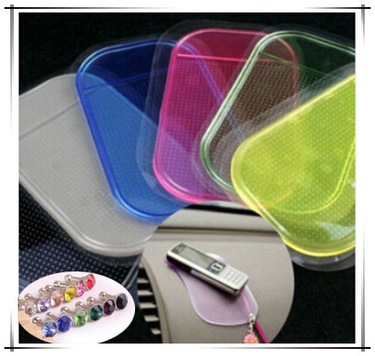 2015 HOT SALE Powerful Silica Gel Magic Sticky Pad Anti Slip Non Slip Mat for Phone Car Accessories With 2pcs Dust Plug(China (Mainland))
