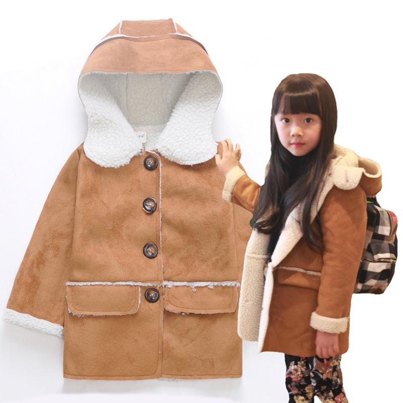 Winter Autumn Children Baby Outerwear Jackets Fashion Kids Coats Wool Windproof Boys Girls Brand ...