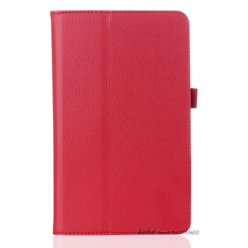 For Samsung Galaxy Tab 4 8.0 inch l itchi printed pu Leather Case Stand Cover Case for Samsung T330+Stylus Pen flim LC1109