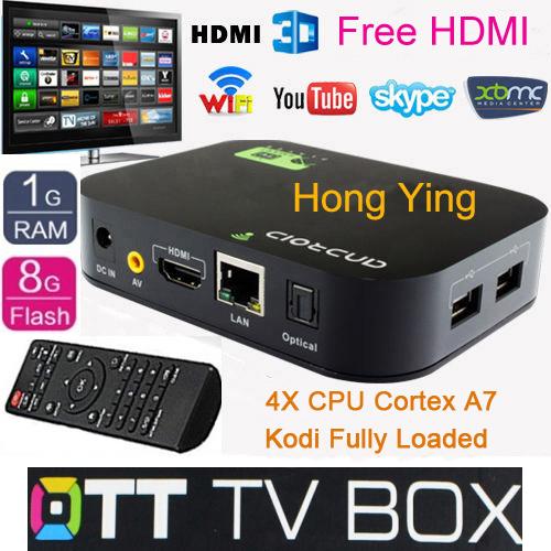 Free Shipping Allwinner A20 Dual Core Android 4.2 Smart TV Box 1080P WIFI HDMI YOUTUBE XBMC Media Player Quad Core GPU