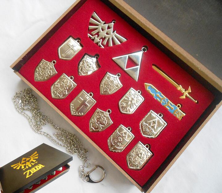 Free shipping Zelda arsenal necklace Keychain Set 14<br><br>Aliexpress