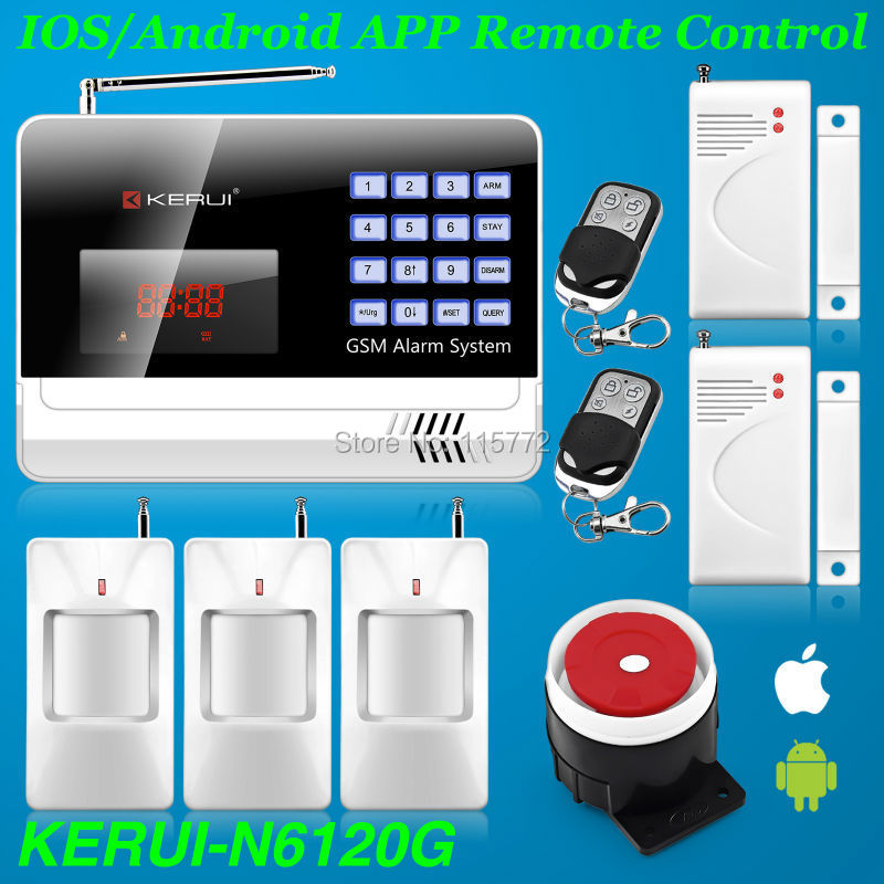 Android IOS APP Controlled Wireless Alarm Systems Security Home Auto Dialing GSM Alarm PIR Sensor English/Russian/Spanish Voice<br><br>Aliexpress