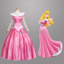 New Good Quality Adult Movie Sleeping Beauty Princess Aurora Gorgeous Dress Cosplay Costume Custom/S-XL