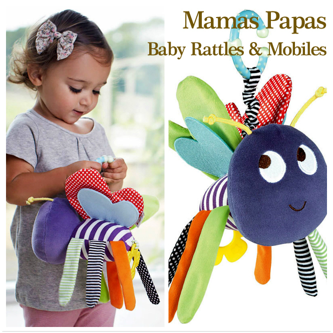 Baby Toys 0-12 Months Baby Rattles Mobiles Plush Mamas Papas Size 8.8''*4''* 8.8'' Educational Toys For Toddlers Toy Stroller(China (Mainland))