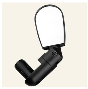 Universal Rotate Cycling Bike Bicycle Handlebar Wide Angle Rear View Rearview Mirror Glass Black Flexible Adjustable