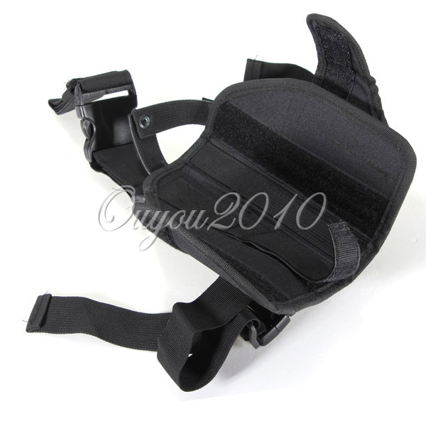 Adjustable Black Outdoor Hunting Waterproof Military Tactical Puttee Thigh Leg Pistol Gun Holster Pouch Quick Release
