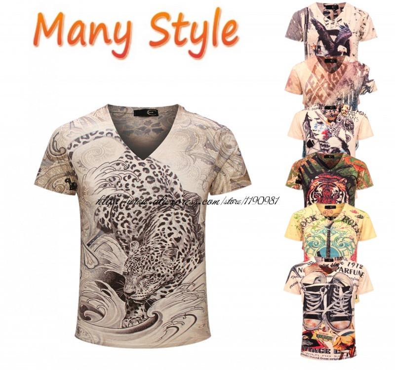 Мужская футболка Crime T-shirt 2015 v 3d t homme 3XL мужская футболка dermay slim fit t v 6 homme m 3xl