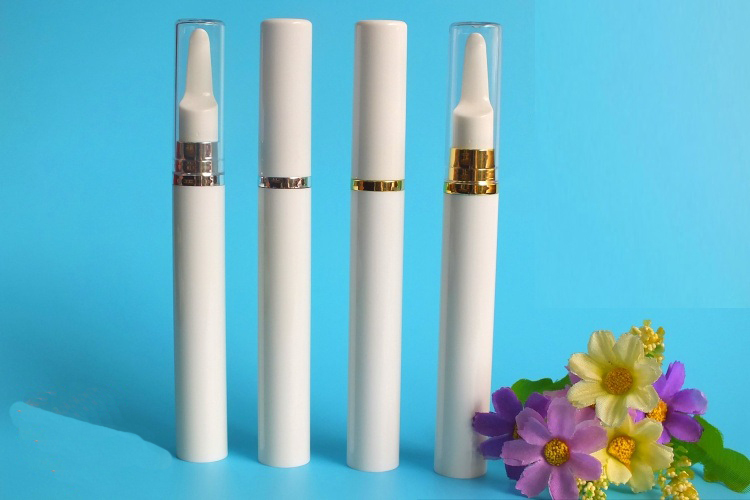 10ML white long press pump airless eyecream bottle or airless pump lotion bottle with gold/silver collar  for Cosmetic Packaging<br><br>Aliexpress