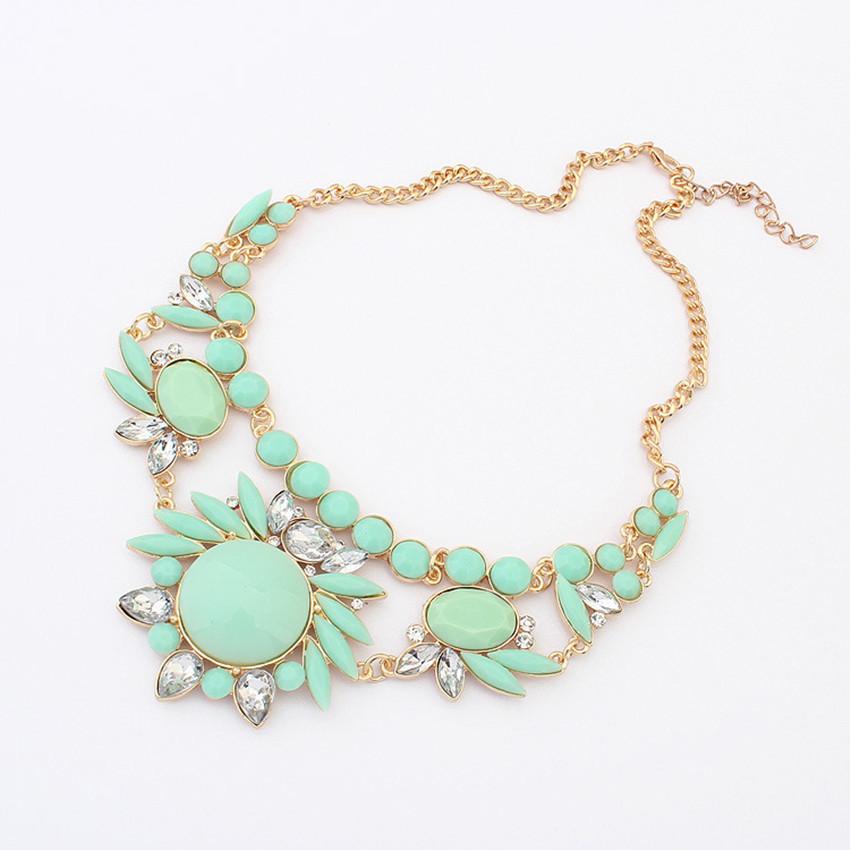 s fashion retro ethnic style rhinestone necklace