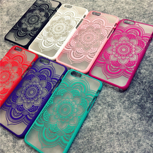 Brand New Beautiful Floral Henna Paisley Mandala Palace Flower Phone Cases Cover For iPhone 5 5G 5S 5C SE 6 6G 6S 4.7 6Plus 5.5(China (Mainland))