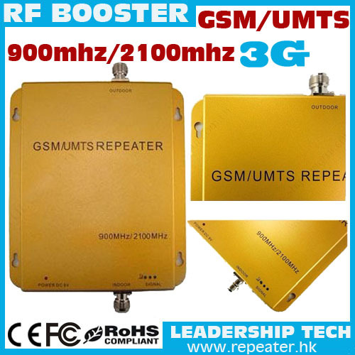 Free shipping Wholesale GSM/UMTS/WCDMA 900Mhz/2100mhz dual band mobile phones repeater for GSM and UMTS 3G cell phones booster(China (Mainland))
