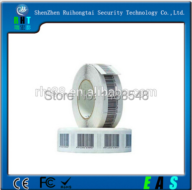 Free shipping EAS FR 8.2mhz soft label 3*4cm RF barcode label for anti-theft 1000pcs(China (Mainland))