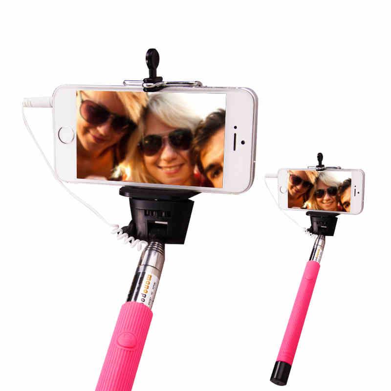 Проводной selfie палку ручной монопод встроенный