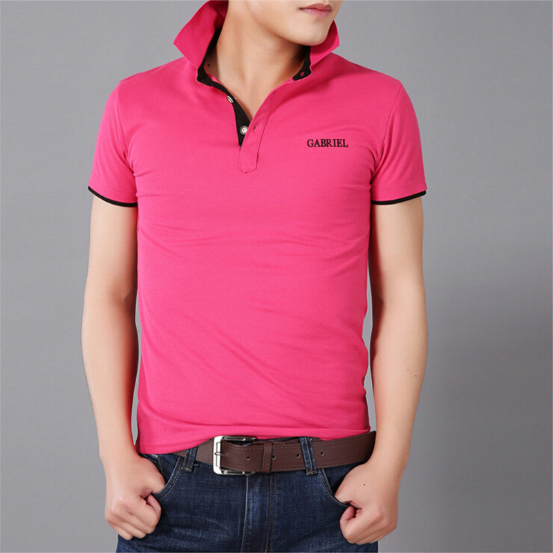 2015 summer men collar polo shirt men clothing solid mens for Business casual polo shirt