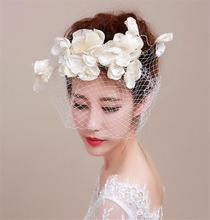 European Style White Flower Fascinator Hat