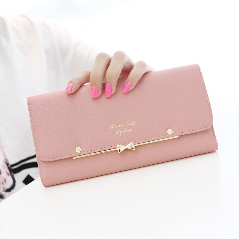 2015 Hot Sale Women Wallets Lady Women Wallet Bag Popular Purse Long PU Handbags Card Holder Birthday Bags Party(China (Mainland))
