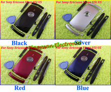 Black/Pink/Silver/Blue/Red Original Full Housing/Cover/Case/+Buttons for Sony Ericsson Vivaz U5 U5i Replacement,Free Shipping!!(China (Mainland))