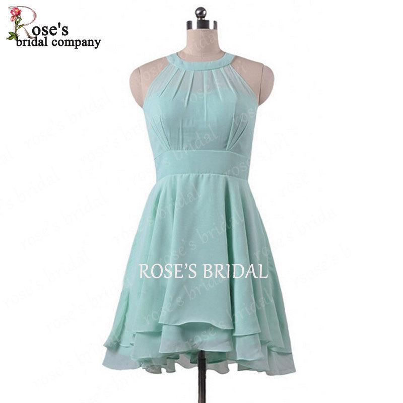 Green short bridesmaid dresses 2015 junior cute cheap wedding party