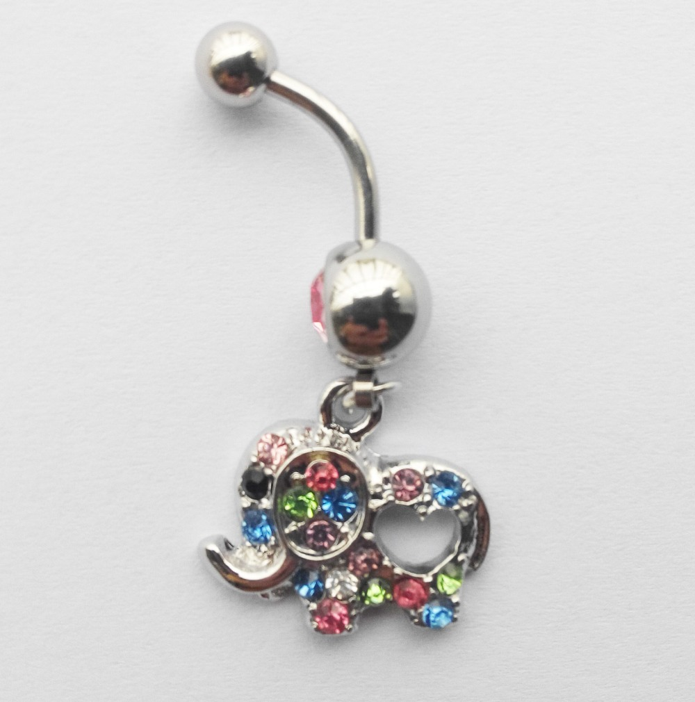 Cute elephant gold body jewelry piercing navel belly for Belly button jewelry store